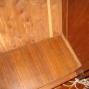 closet start before removing veneer covered plywood with 2 hidden screws into sub-floor