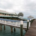 The Spanish Cay Marina docks, restaurant, bar and clubhouse where the manager, Anita is sooooo nice!