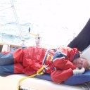 Sleep in the early morning of the overnight sail across the English Channel