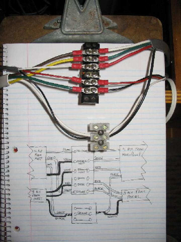 replacing anchor light w tri color initial wiring diagram to get rh ipyoa com Light and Outlet Wiring Diagrams Multiple Light Switch Wiring Diagrams