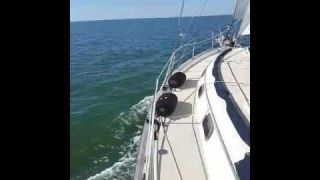 Island Packet 38 - Contented Turtle Refit Test Sail